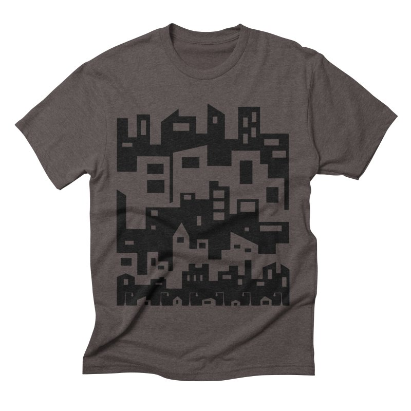 Stacked Cityscape Men's Triblend T-Shirt by LadyBaigStudio's Artist Shop
