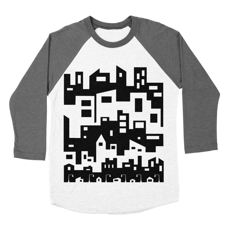 Stacked Cityscape Women's Baseball Triblend Longsleeve T-Shirt by LadyBaigStudio's Artist Shop
