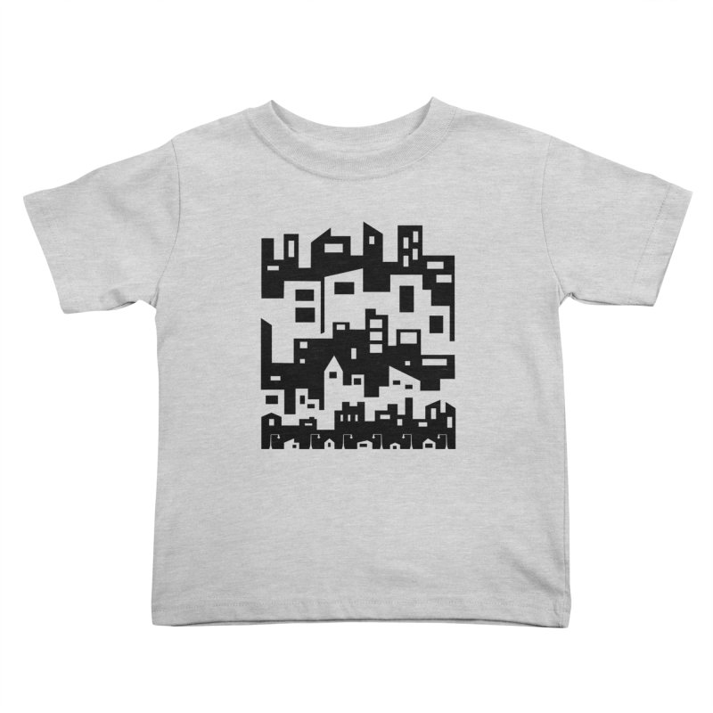 Stacked Cityscape Kids Toddler T-Shirt by LadyBaigStudio's Artist Shop