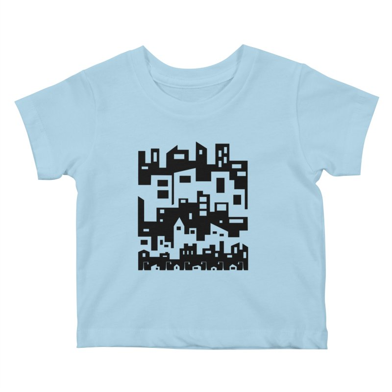 Stacked Cityscape Kids Baby T-Shirt by LadyBaigStudio's Artist Shop