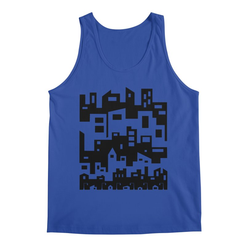 Stacked Cityscape Men's Regular Tank by LadyBaigStudio's Artist Shop