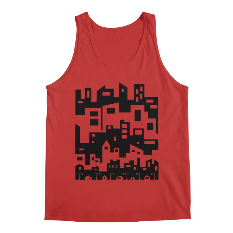 Stacked Cityscape Men's Tank by LadyBaigStudio's Artist Shop