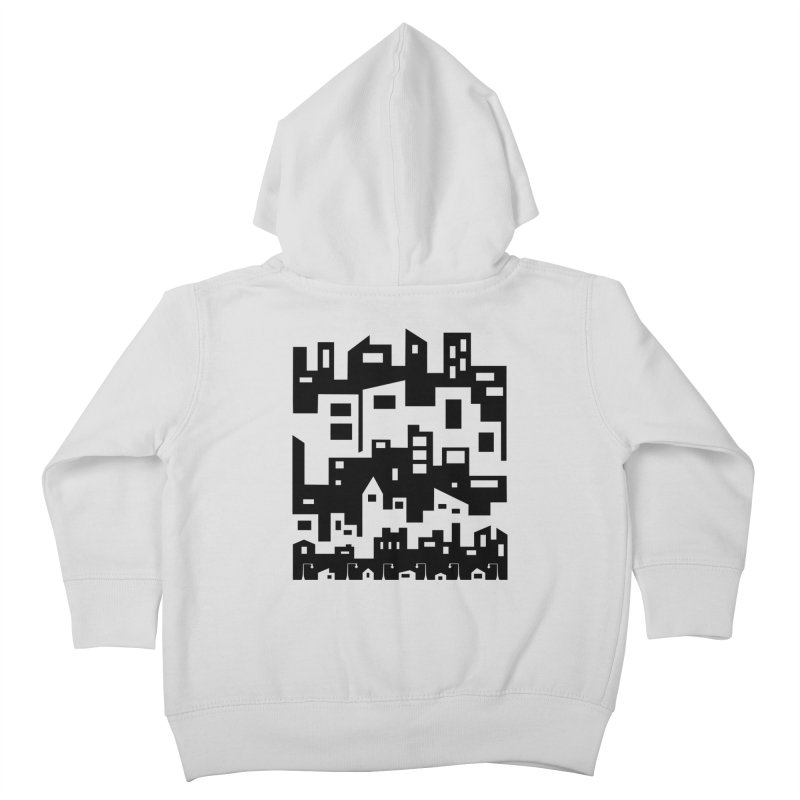 Stacked Cityscape Kids Toddler Zip-Up Hoody by LadyBaigStudio's Artist Shop