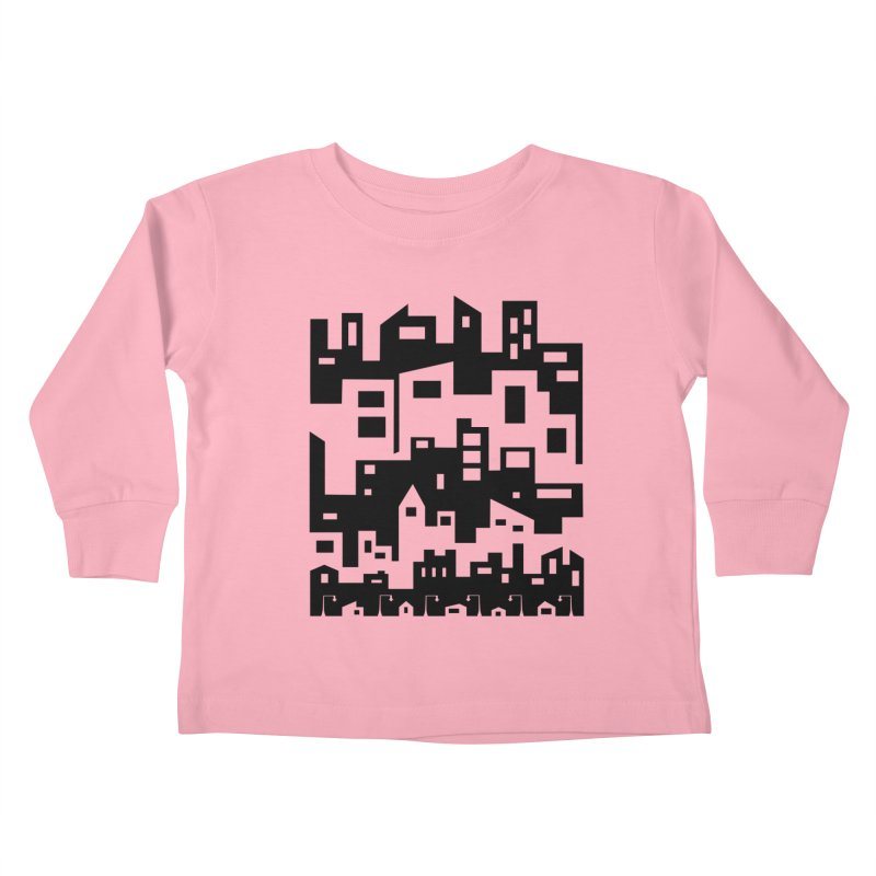 Stacked Cityscape Kids Toddler Longsleeve T-Shirt by LadyBaigStudio's Artist Shop