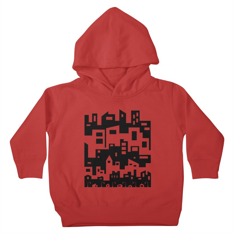 Stacked Cityscape Kids Toddler Pullover Hoody by LadyBaigStudio's Artist Shop
