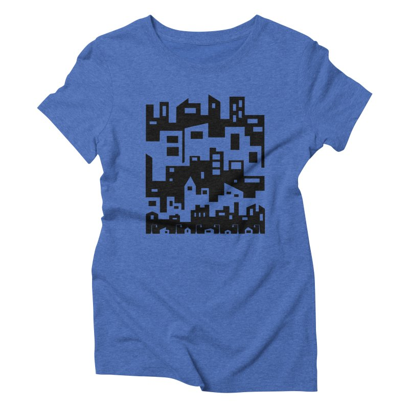 Stacked Cityscape Women's Triblend T-Shirt by LadyBaigStudio's Artist Shop