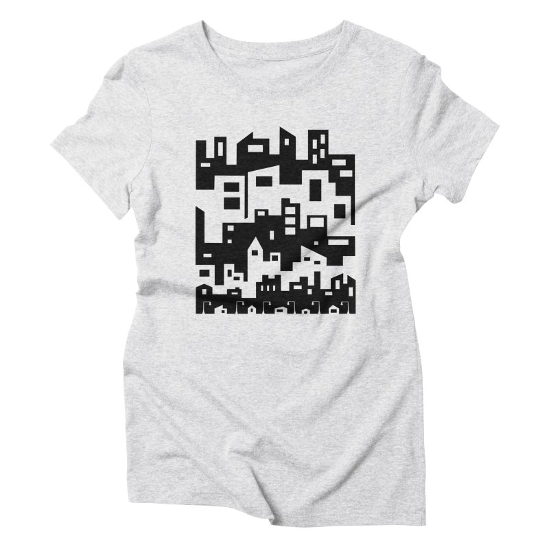 Stacked Cityscape Women's T-Shirt by LadyBaigStudio's Artist Shop