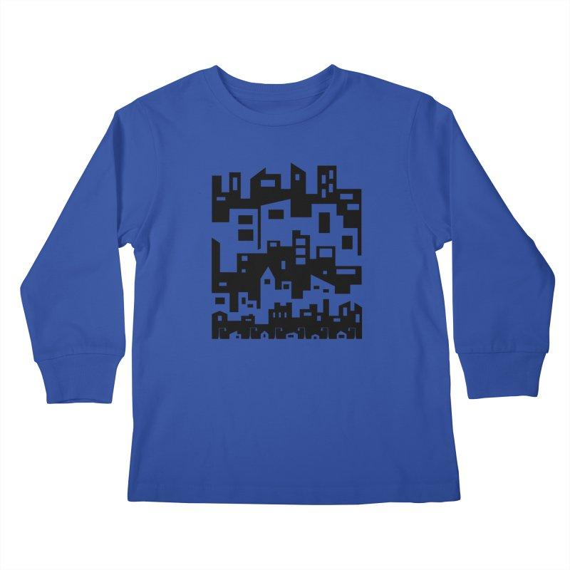Stacked Cityscape Kids Longsleeve T-Shirt by LadyBaigStudio's Artist Shop