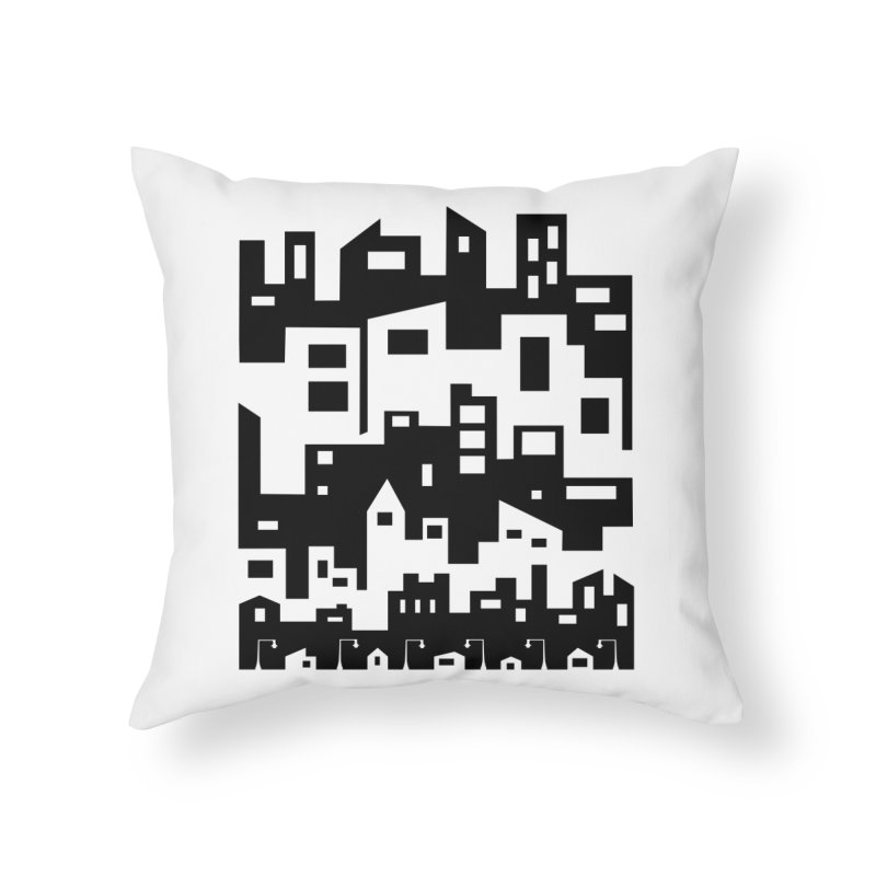 Stacked Cityscape Home Throw Pillow by LadyBaigStudio's Artist Shop