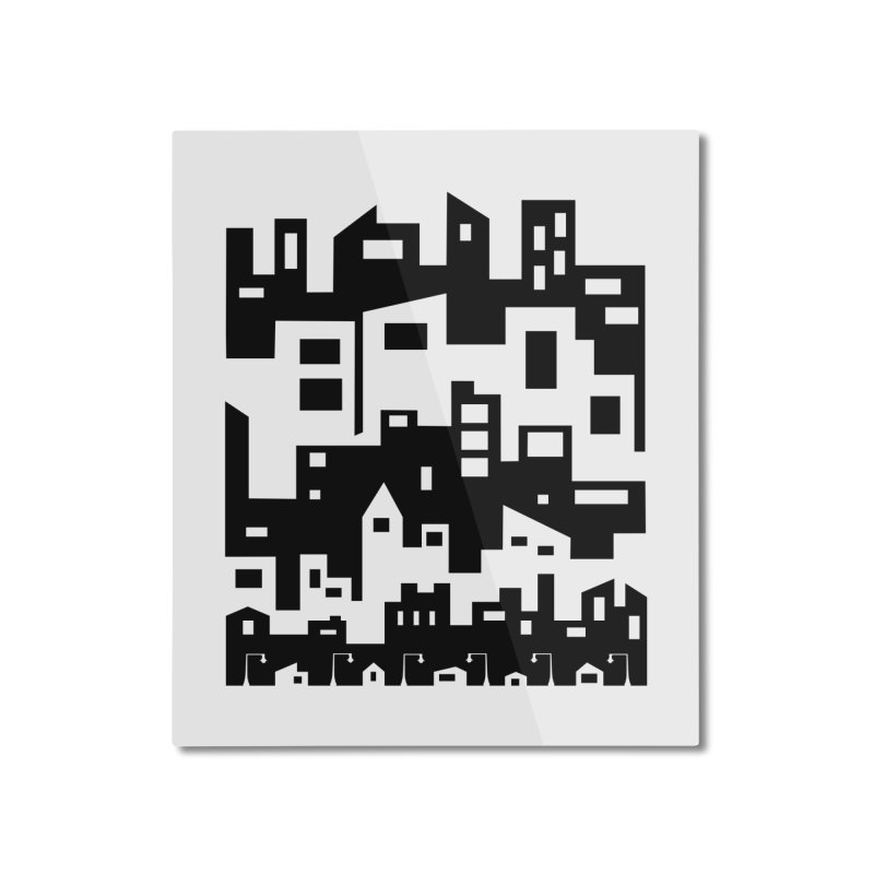 Stacked Cityscape Home Mounted Aluminum Print by LadyBaigStudio's Artist Shop