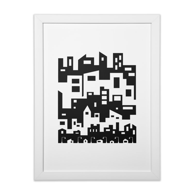 Stacked Cityscape Home Framed Fine Art Print by LadyBaigStudio's Artist Shop