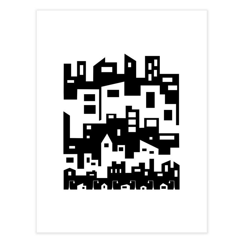 Stacked Cityscape Home Fine Art Print by LadyBaigStudio's Artist Shop
