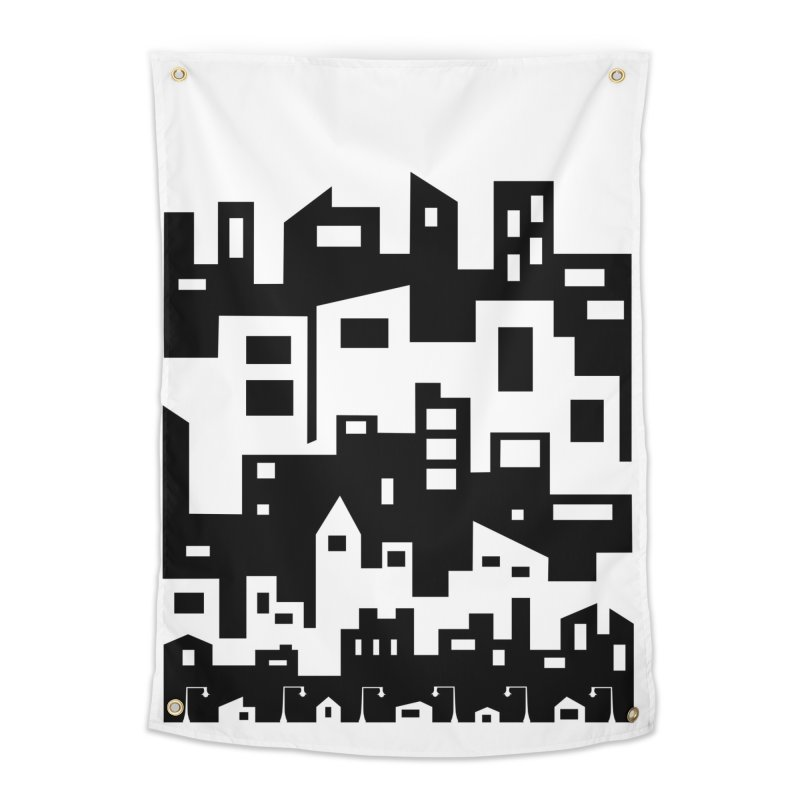 Stacked Cityscape Home Tapestry by LadyBaigStudio's Artist Shop