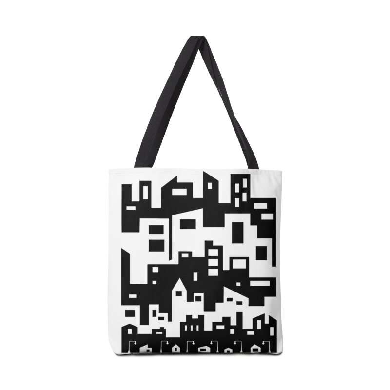 Stacked Cityscape Accessories Tote Bag Bag by LadyBaigStudio's Artist Shop