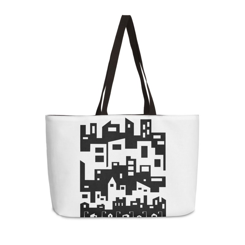 Stacked Cityscape Accessories Weekender Bag Bag by LadyBaigStudio's Artist Shop