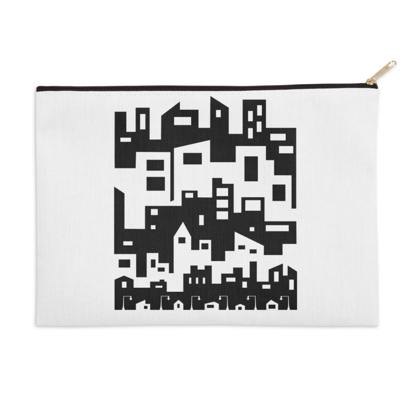 Stacked Cityscape Accessories Zip Pouch by LadyBaigStudio's Artist Shop