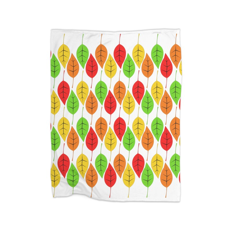 Cascading Autumn Leaves Home Fleece Blanket Blanket by LadyBaigStudio's Artist Shop