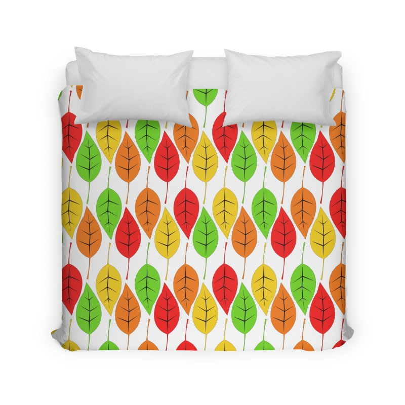 Cascading Autumn Leaves Home Duvet by LadyBaigStudio's Artist Shop