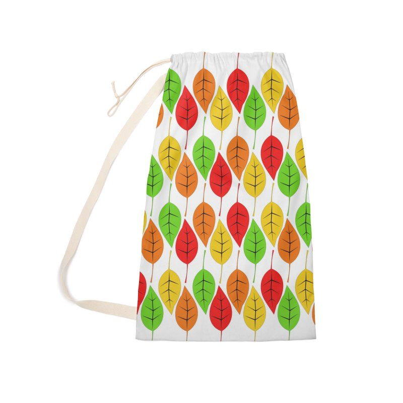 Cascading Autumn Leaves Accessories Laundry Bag Bag by LadyBaigStudio's Artist Shop