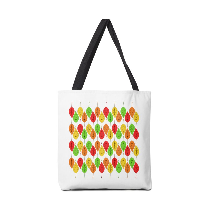 Cascading Autumn Leaves Accessories Tote Bag Bag by LadyBaigStudio's Artist Shop