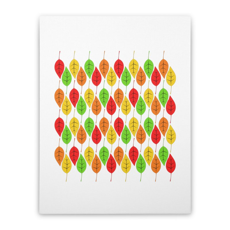 Cascading Autumn Leaves Home Stretched Canvas by LadyBaigStudio's Artist Shop