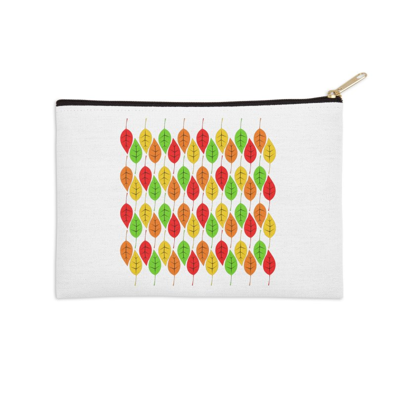 Cascading Autumn Leaves Accessories Zip Pouch by LadyBaigStudio's Artist Shop