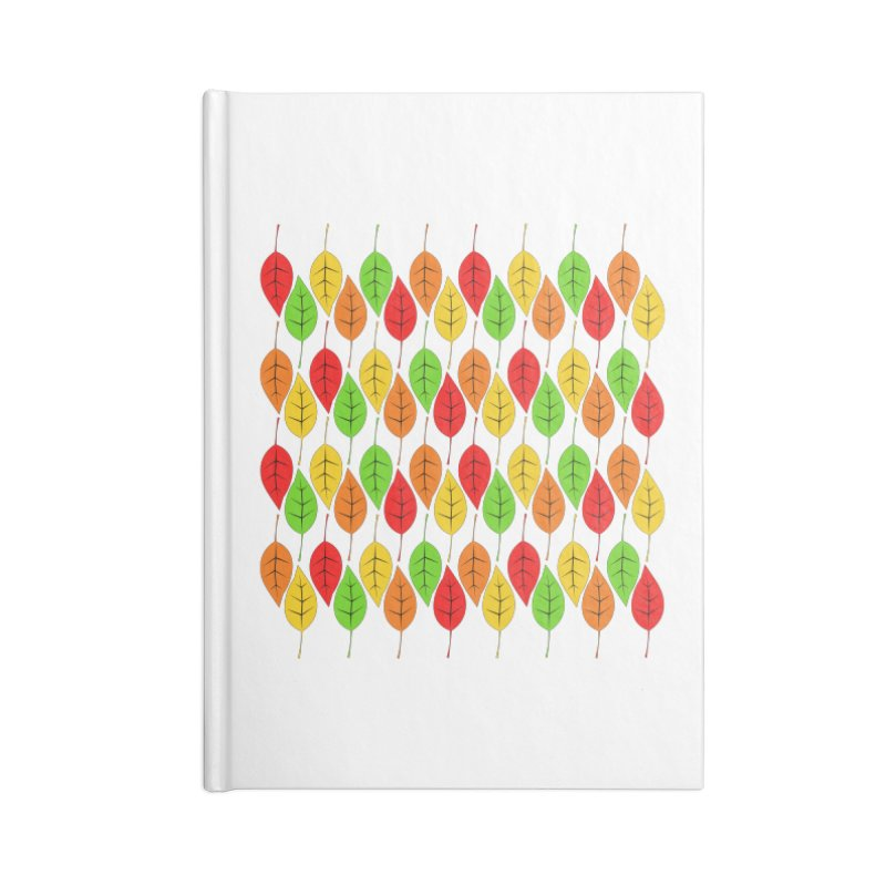 Cascading Autumn Leaves Accessories Notebook by LadyBaigStudio's Artist Shop