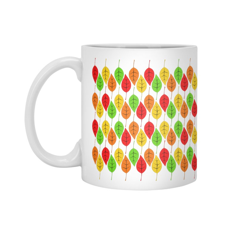 Cascading Autumn Leaves Accessories Standard Mug by LadyBaigStudio's Artist Shop