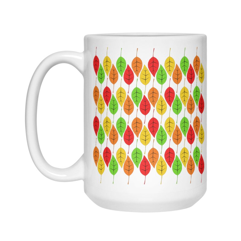 Cascading Autumn Leaves Accessories Mug by LadyBaigStudio's Artist Shop