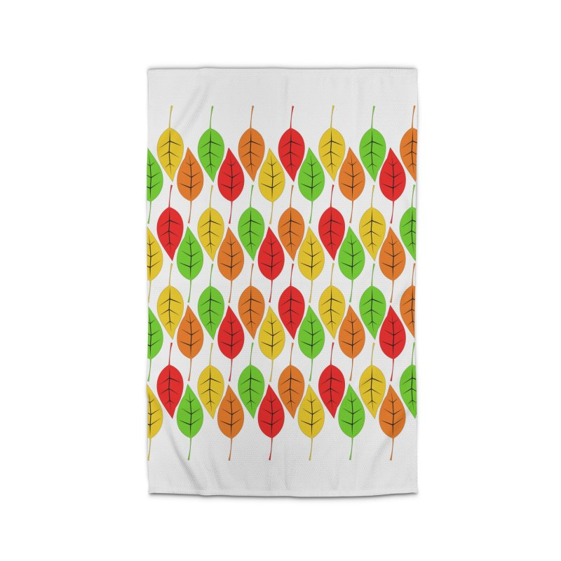 Cascading Autumn Leaves Home Rug by LadyBaigStudio's Artist Shop