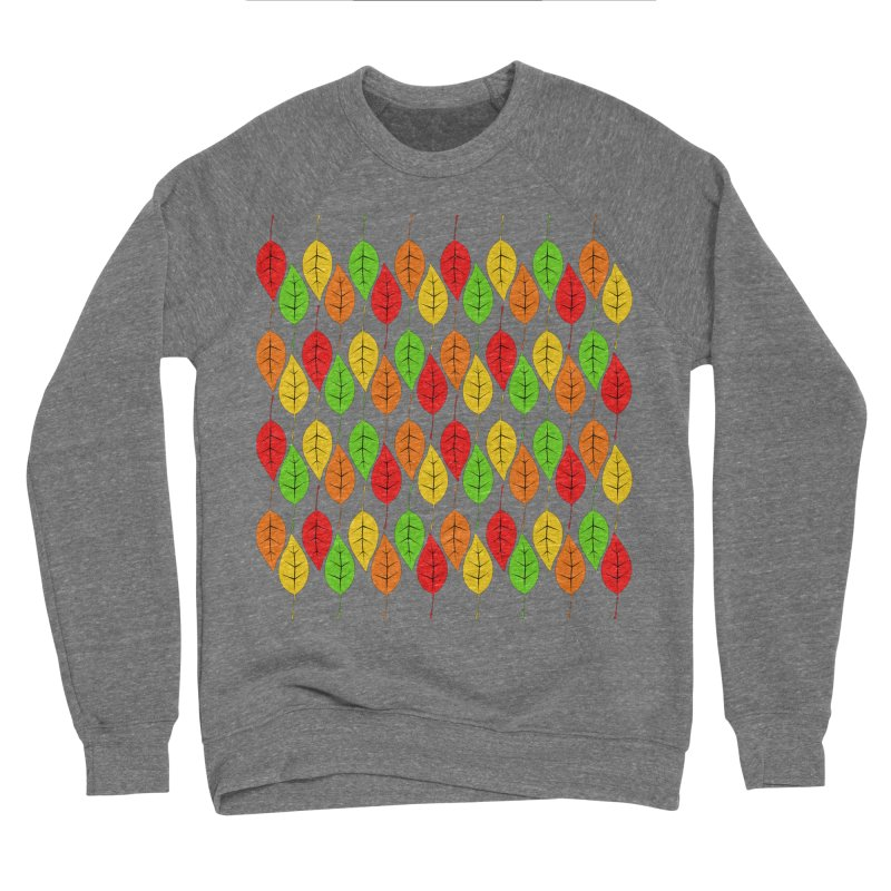Cascading Autumn Leaves Men's Sponge Fleece Sweatshirt by LadyBaigStudio's Artist Shop
