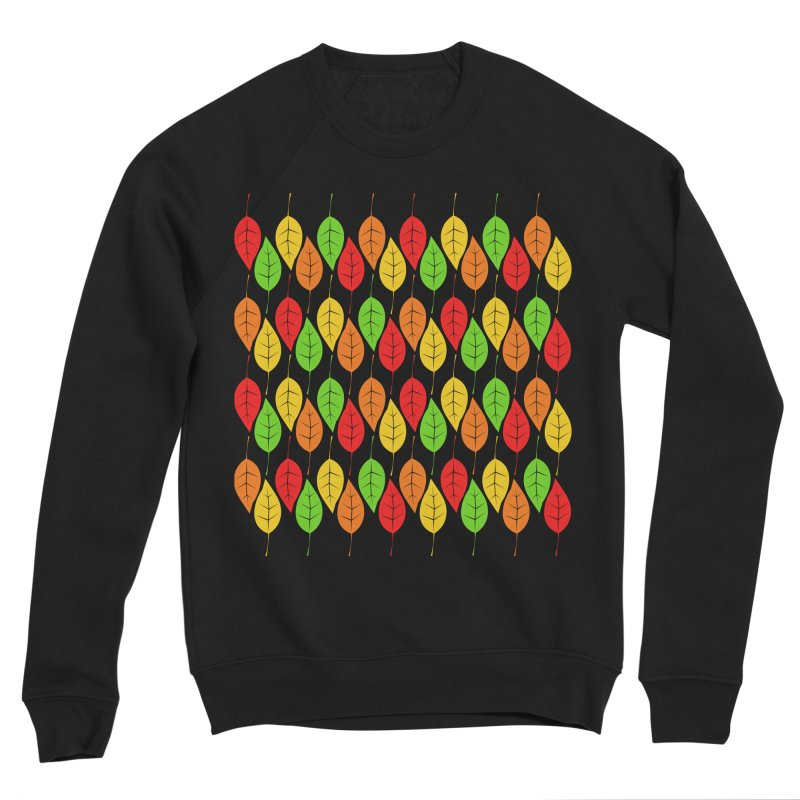 Cascading Autumn Leaves Women's Sponge Fleece Sweatshirt by LadyBaigStudio's Artist Shop