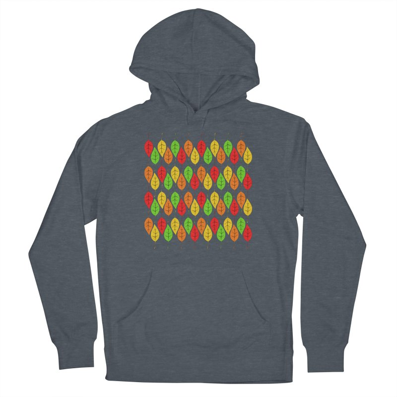 Cascading Autumn Leaves Men's Pullover Hoody by LadyBaigStudio's Artist Shop