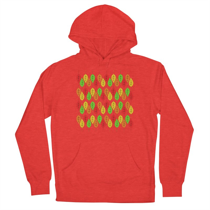 Cascading Autumn Leaves Women's Pullover Hoody by LadyBaigStudio's Artist Shop