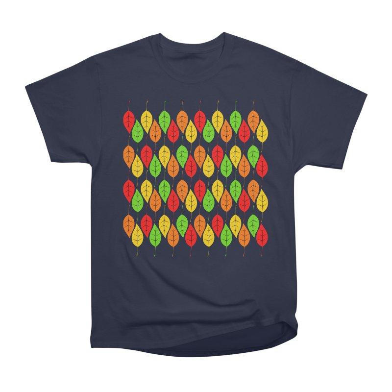 Cascading Autumn Leaves Men's Heavyweight T-Shirt by LadyBaigStudio's Artist Shop