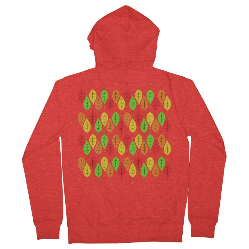 Cascading Autumn Leaves Men's Zip-Up Hoody by LadyBaigStudio's Artist Shop