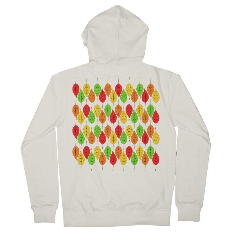 Cascading Autumn Leaves Men's French Terry Zip-Up Hoody by LadyBaigStudio's Artist Shop