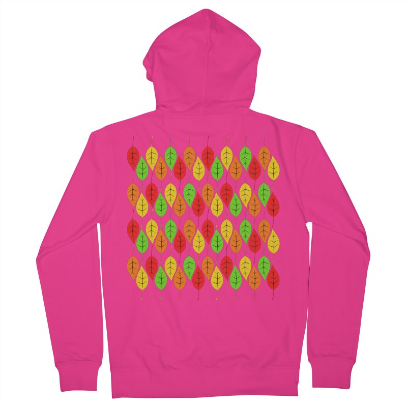Cascading Autumn Leaves Men's Zip-Up Hoody by LadyBaigStudio's Artist Shop