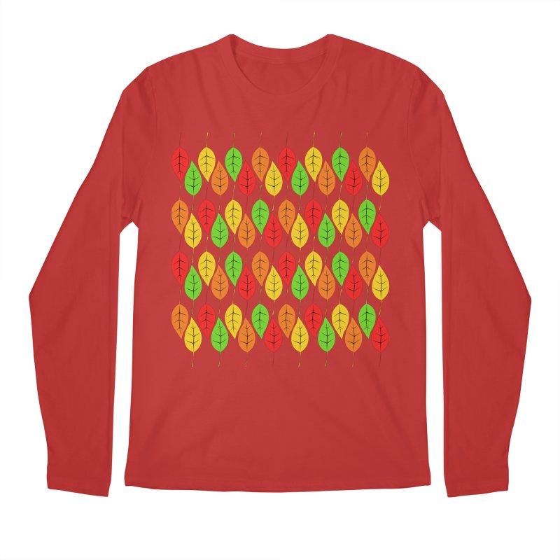 Cascading Autumn Leaves Men's Longsleeve T-Shirt by LadyBaigStudio's Artist Shop