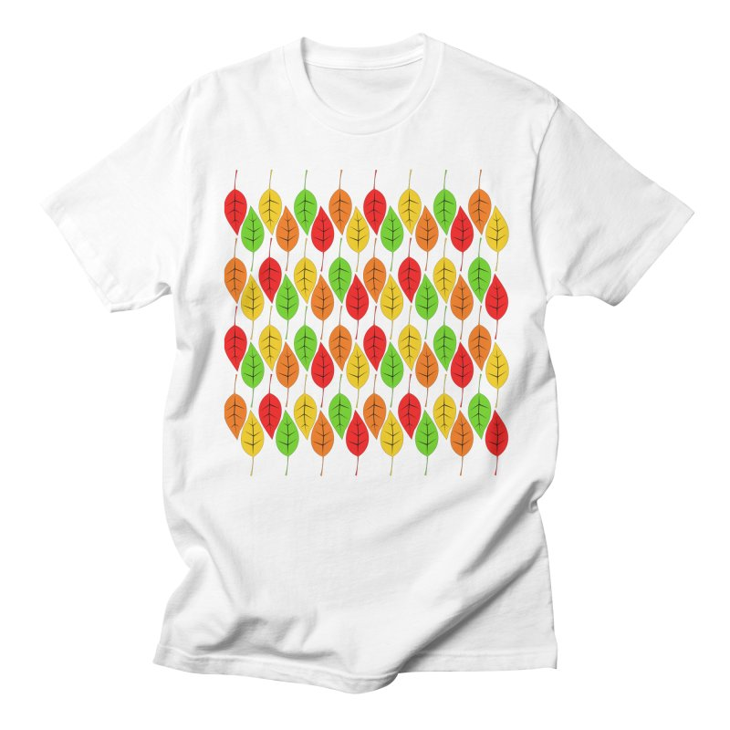 Cascading Autumn Leaves Men's T-Shirt by LadyBaigStudio's Artist Shop