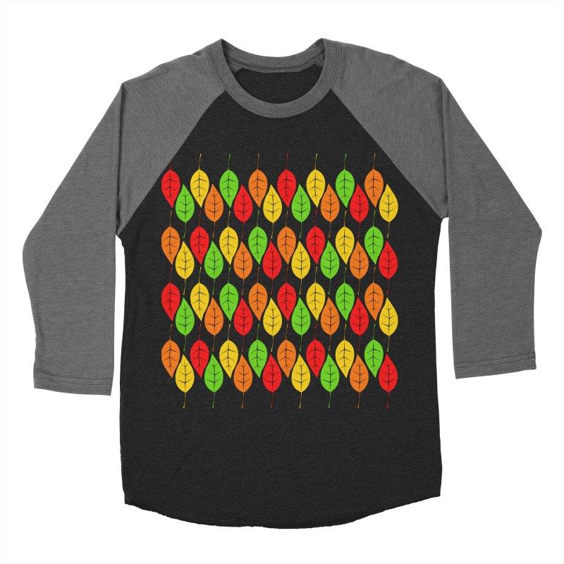 Cascading Autumn Leaves Women's Baseball Triblend Longsleeve T-Shirt by LadyBaigStudio's Artist Shop