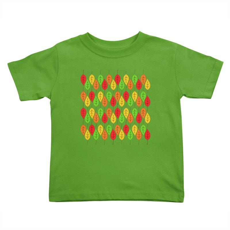 Cascading Autumn Leaves Kids Toddler T-Shirt by LadyBaigStudio's Artist Shop