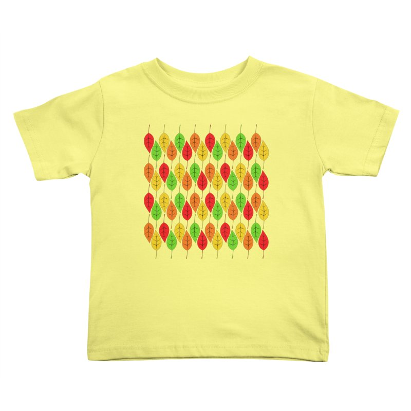 Cascading Autumn Leaves Kids Toddler T-Shirt by LadyBaigStudio's Artist Shop