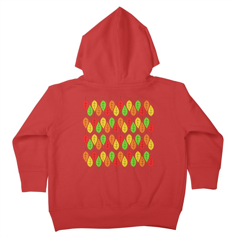 Cascading Autumn Leaves Kids Toddler Zip-Up Hoody by LadyBaigStudio's Artist Shop