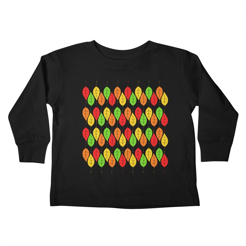 Cascading Autumn Leaves Kids Toddler Longsleeve T-Shirt by LadyBaigStudio's Artist Shop