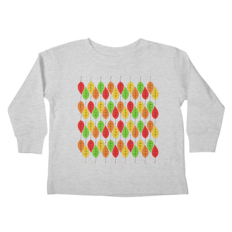 Cascading Autumn Leaves Kids Toddler Longsleeve T-Shirt by LadyBaigStudio's Artist Shop