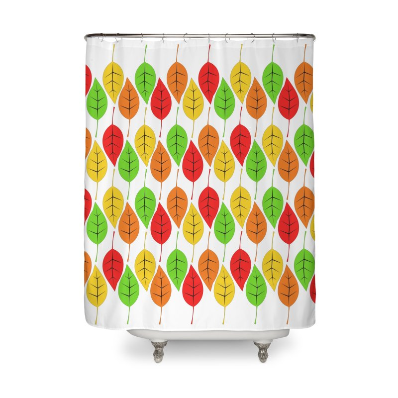 Cascading Autumn Leaves Home Shower Curtain by LadyBaigStudio's Artist Shop