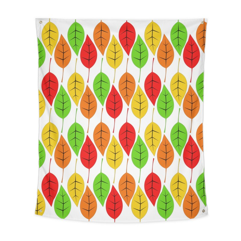 Cascading Autumn Leaves Home Tapestry by LadyBaigStudio's Artist Shop
