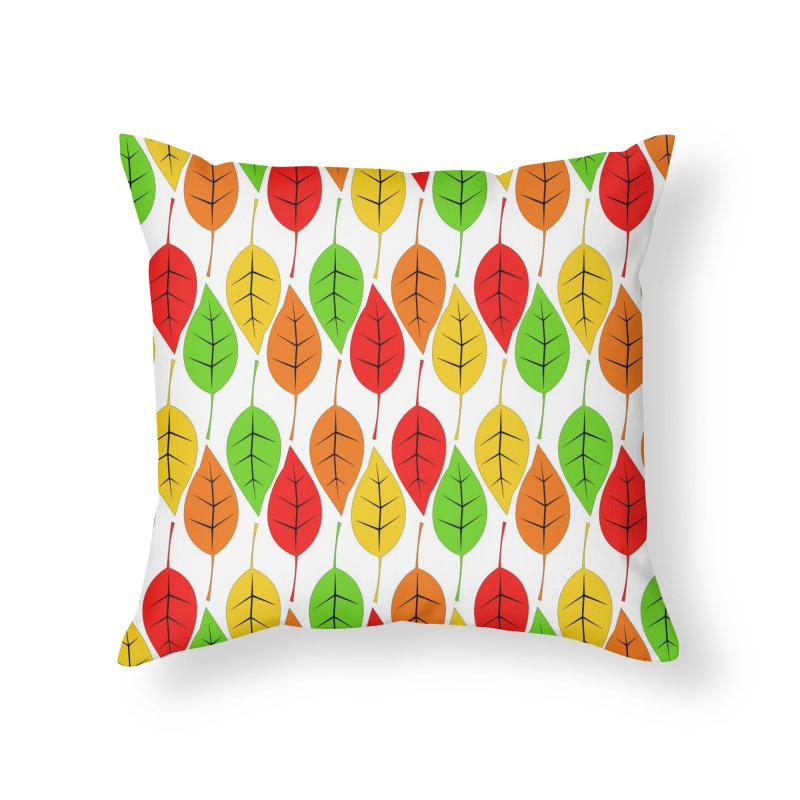 Cascading Autumn Leaves Home Throw Pillow by LadyBaigStudio's Artist Shop