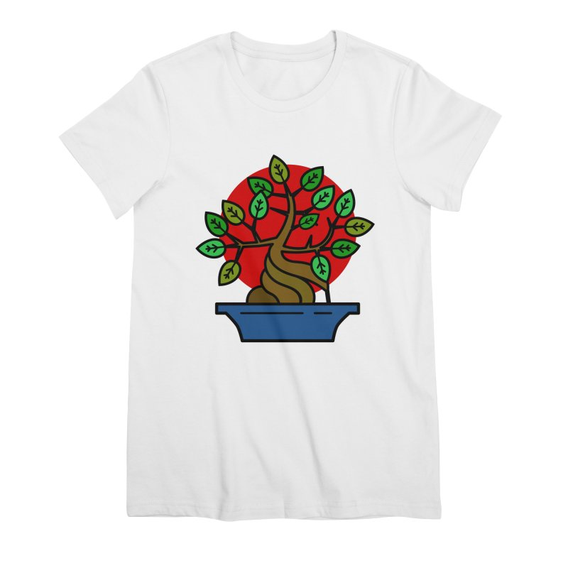 Bonsai Tree Women's Premium T-Shirt by LadyBaigStudio's Artist Shop
